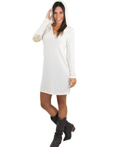 Hooded Ivory Dress