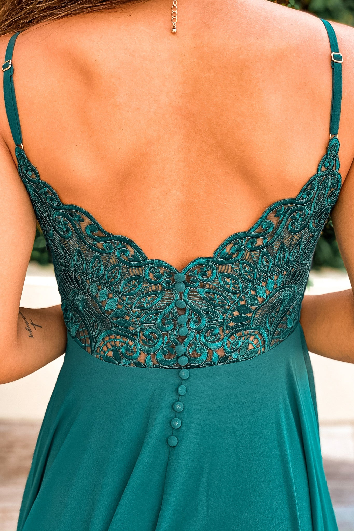 emerald bridesmaid maxi dress