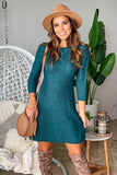 emerald casual short dress