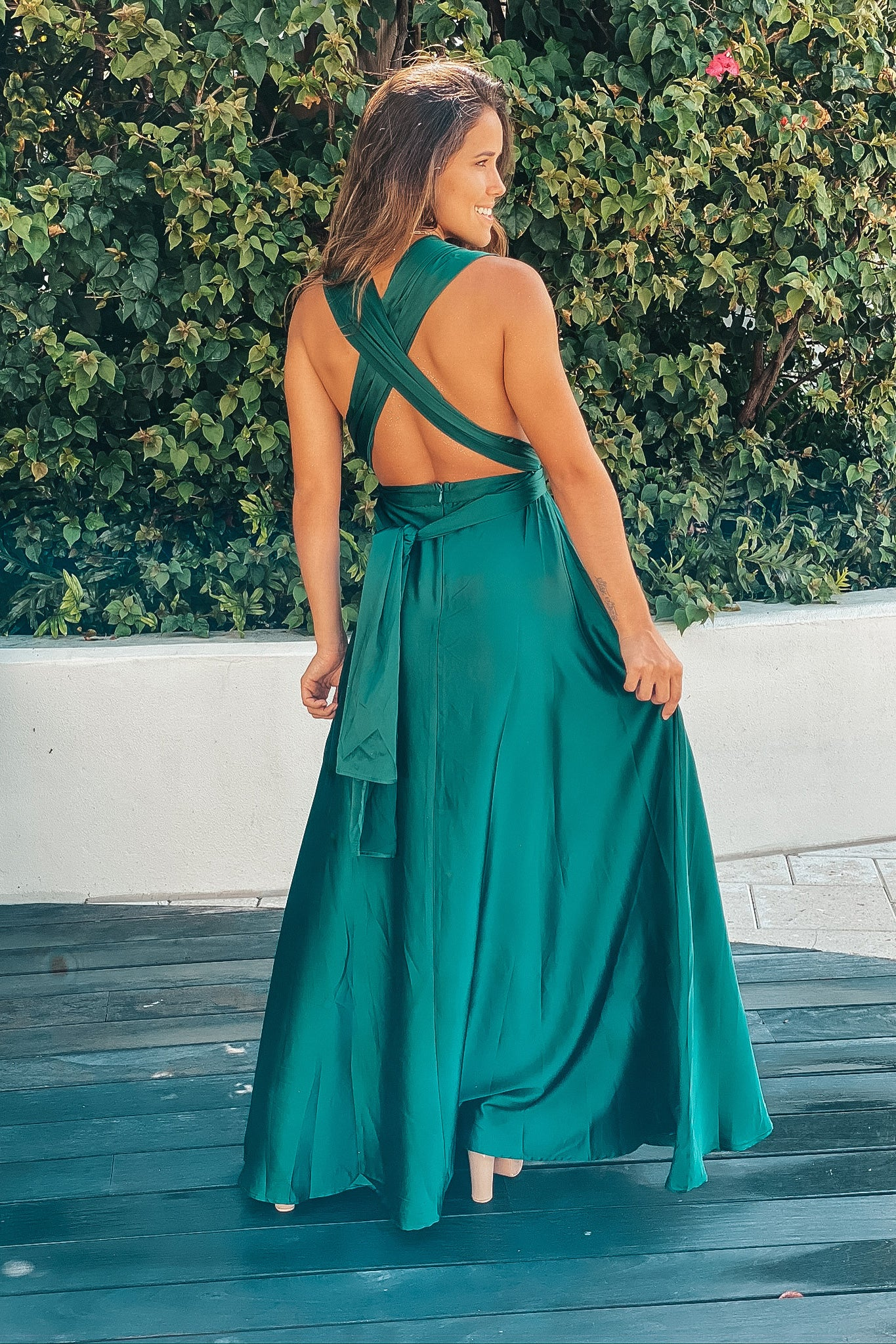 emerald formal maxi dress