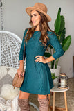 emerald long sleeve short dress