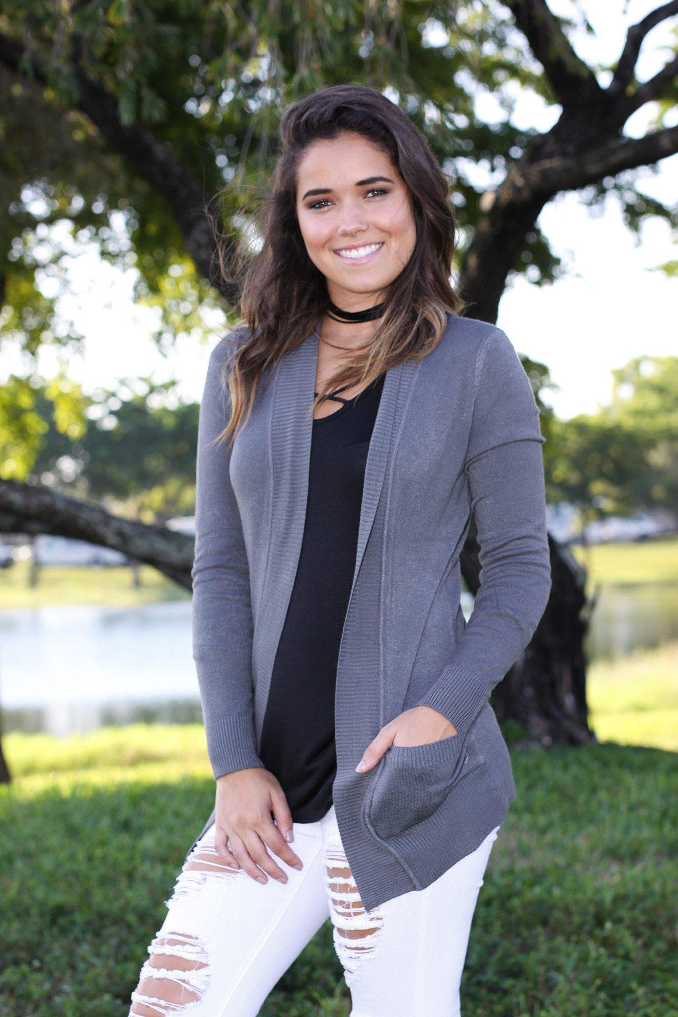 charcoal casual cardigan