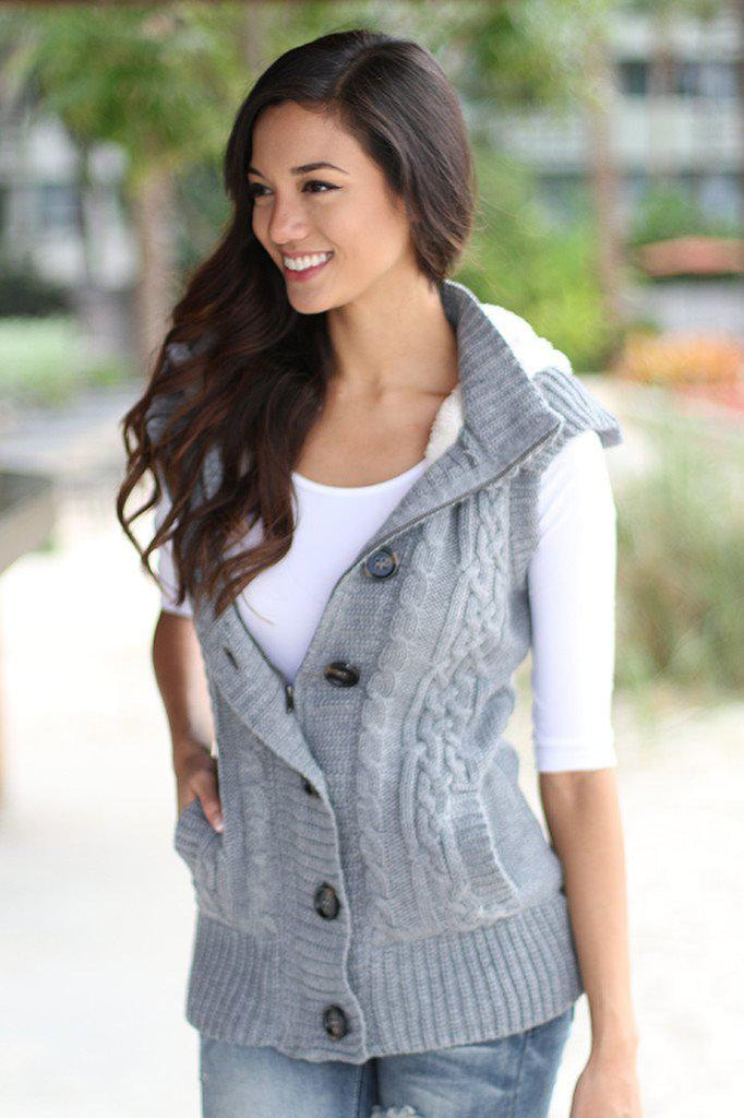 gray vest with pockets