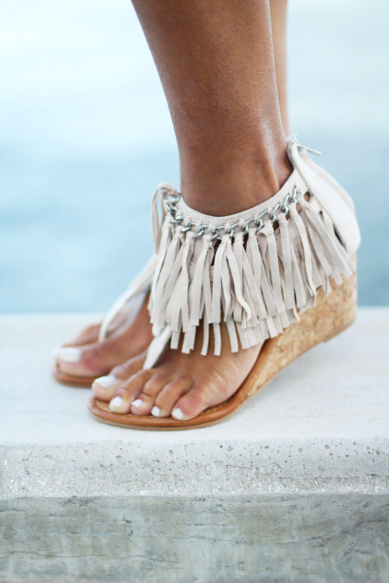 cream fringe wedges - Sybil Cream Wedges Cream Fringe Wedges Cream Cute Wedges