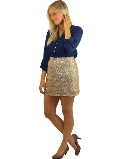 Gold cute skirt - side view