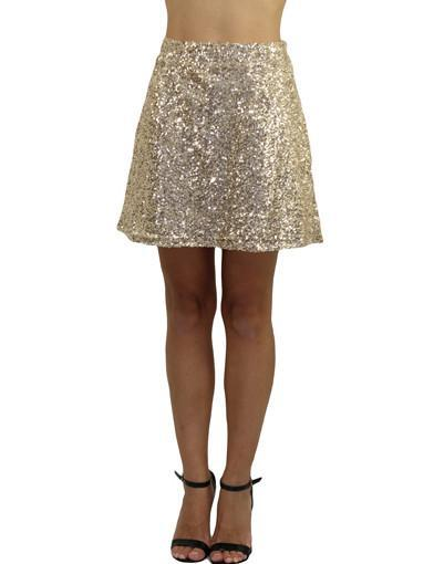 Gold skirt - front view