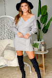 gray casual short dress