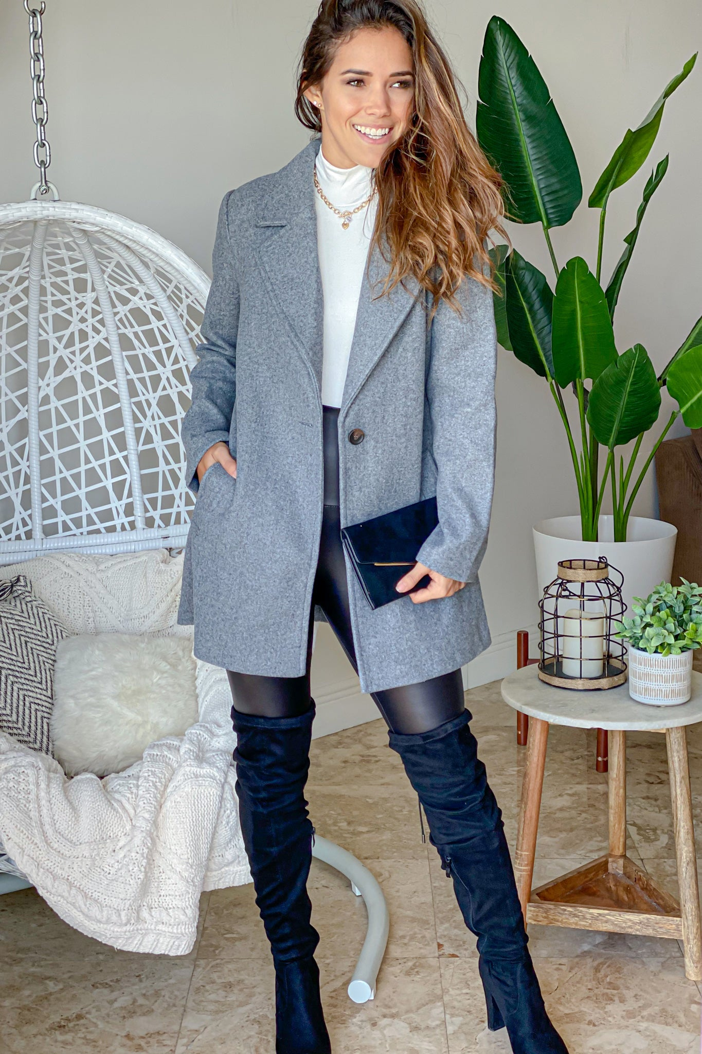 gray elegant coat