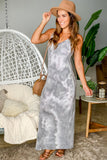gray tie dye casual dress