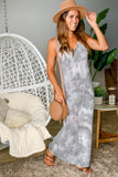 gray tie dye cute dress