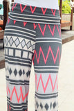Neon Pink and Gray Chevron Pants