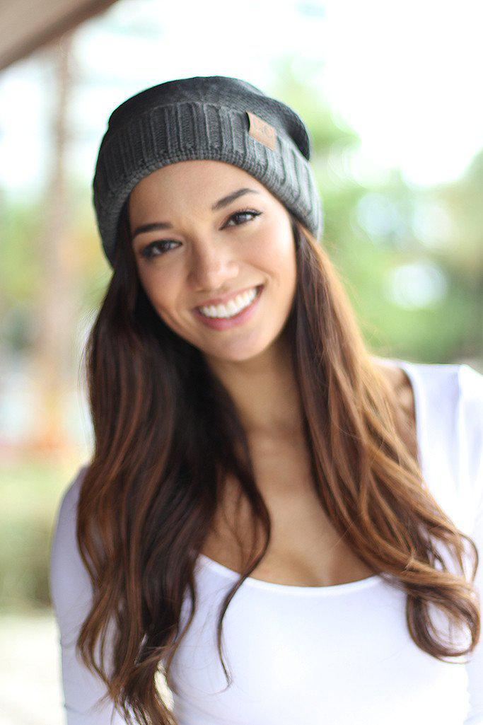 Gray Ombre Knit Beanie