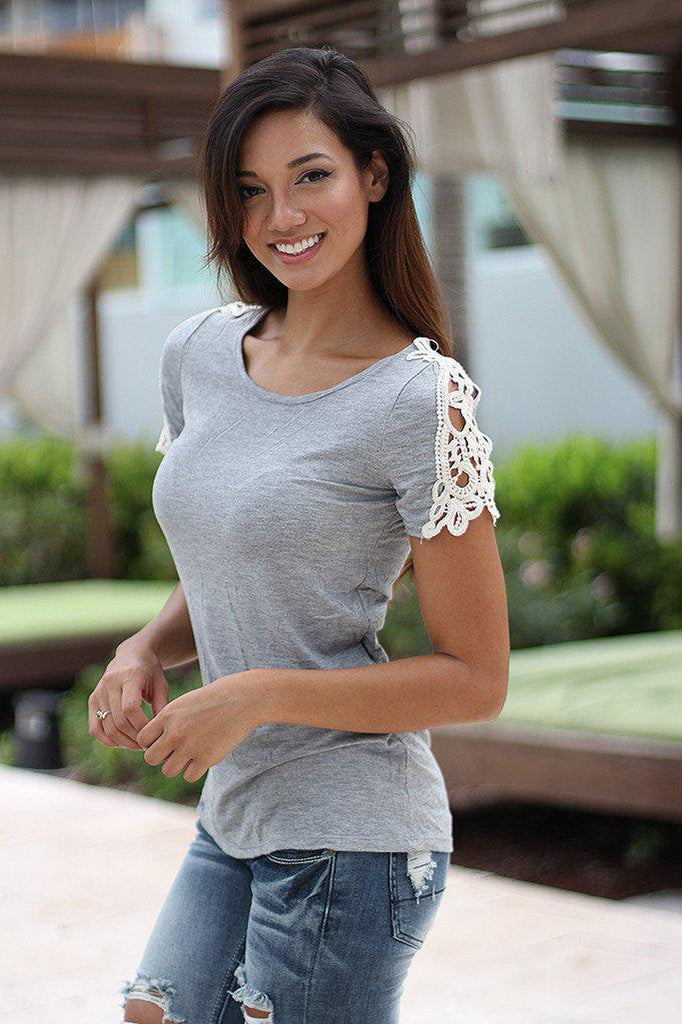 gray cute top