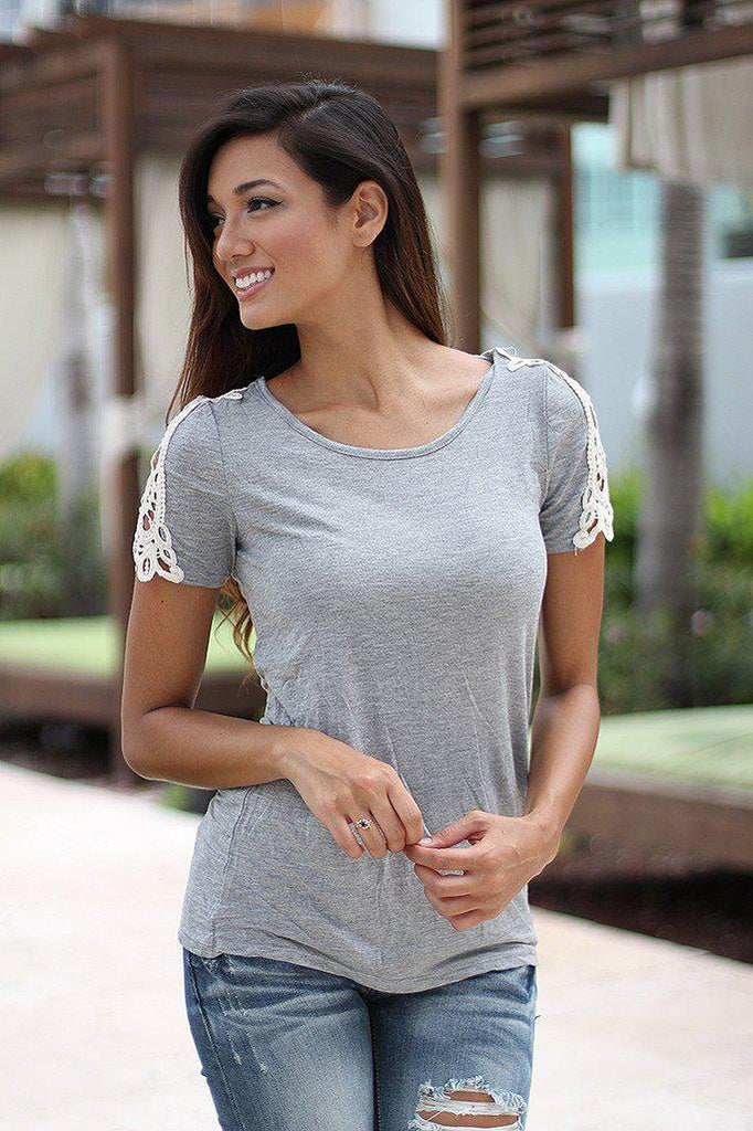 gray casual top