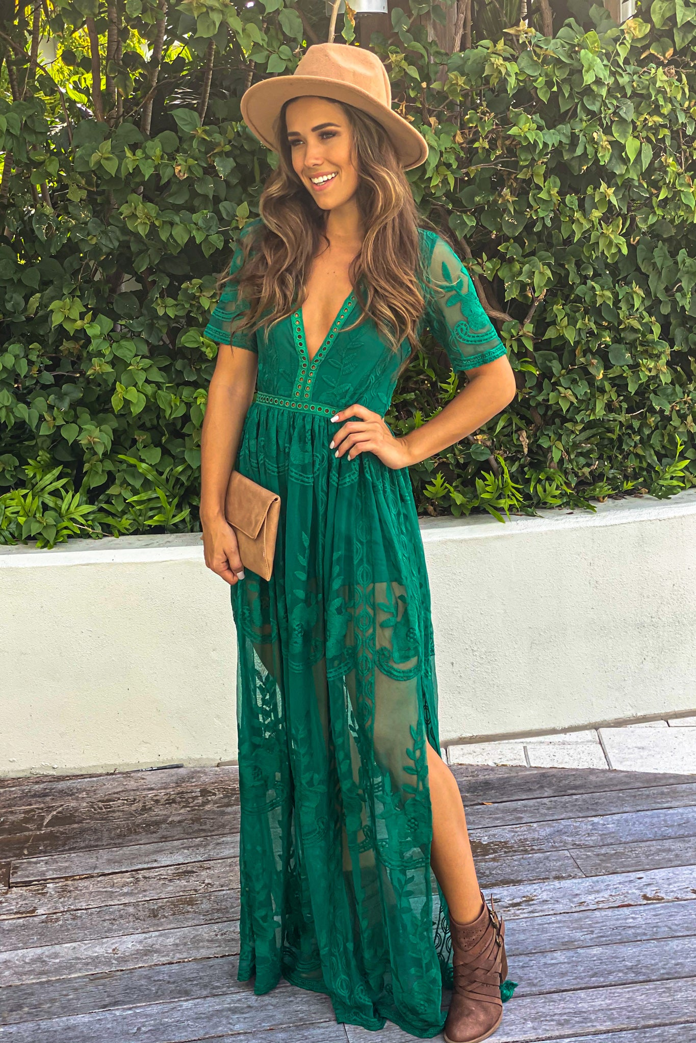 green cute maxi romper
