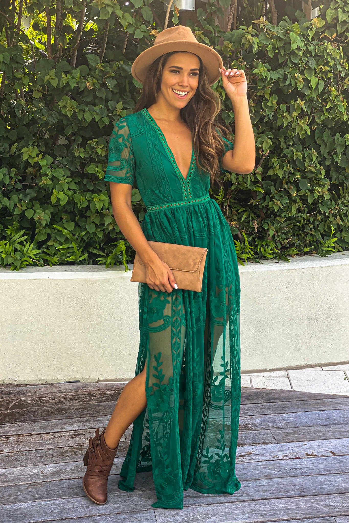 green party maxi romper