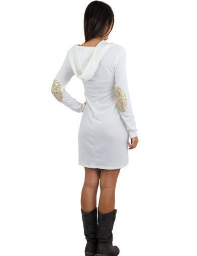 Hooded cute dress - back view