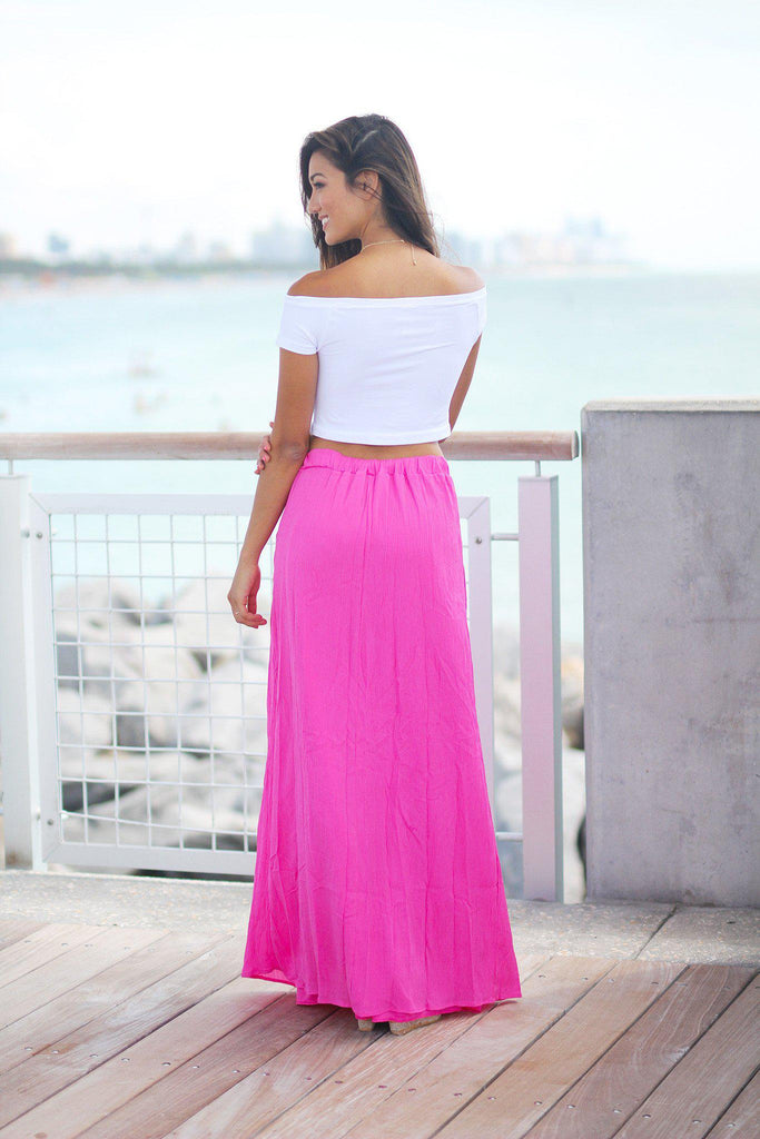 fuchsia cute skirt
