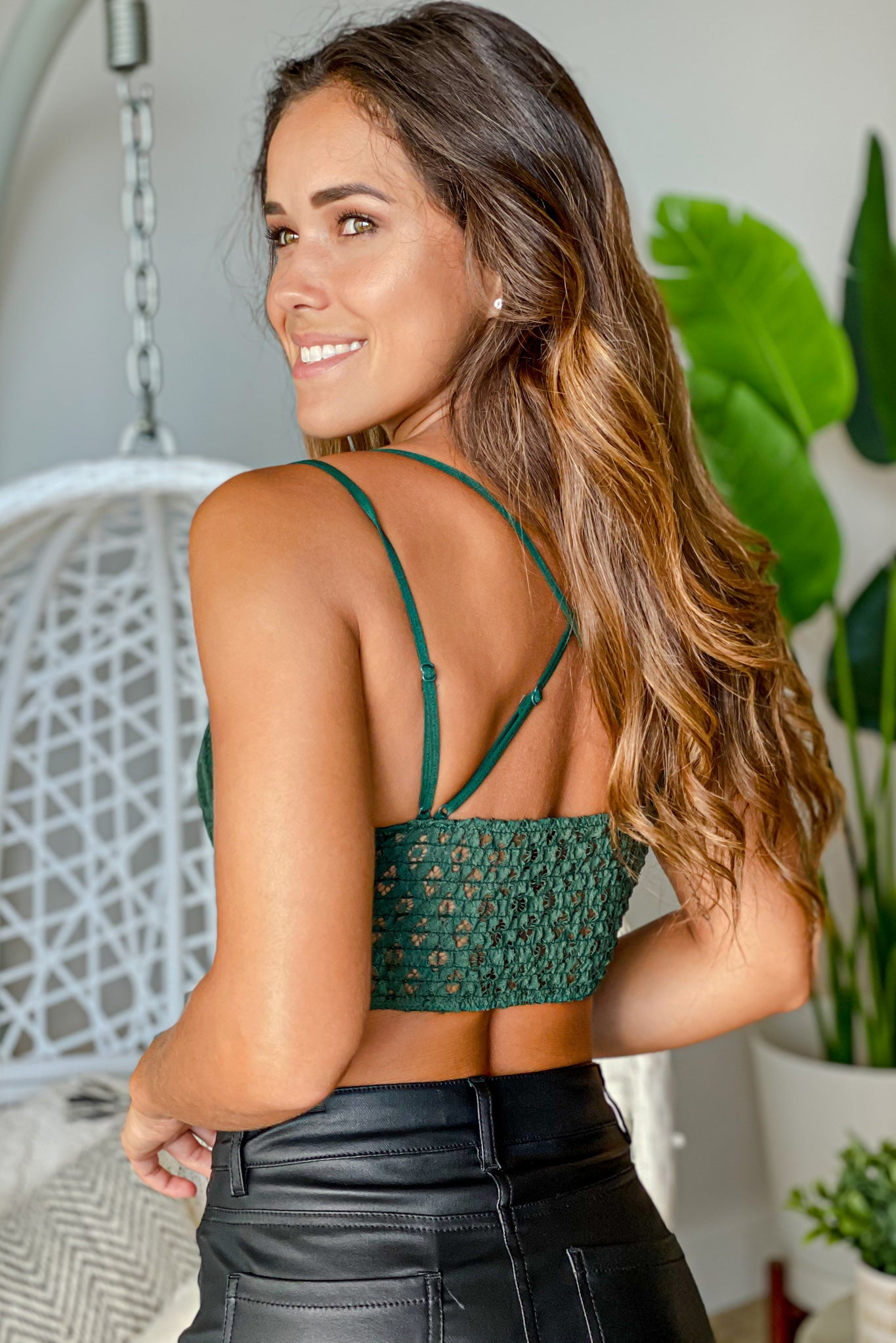 hunter green casual bralette