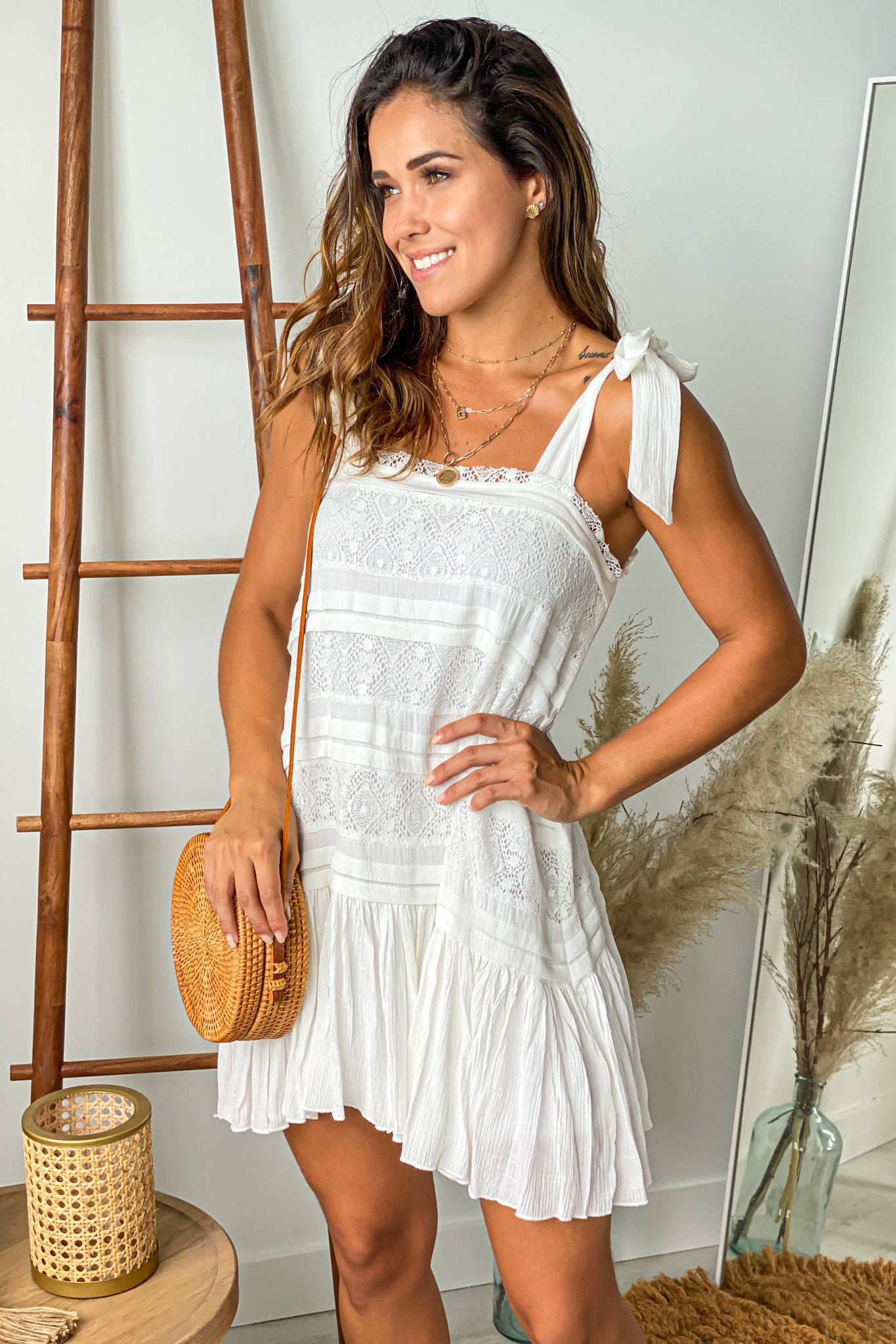 ivory cute short dress