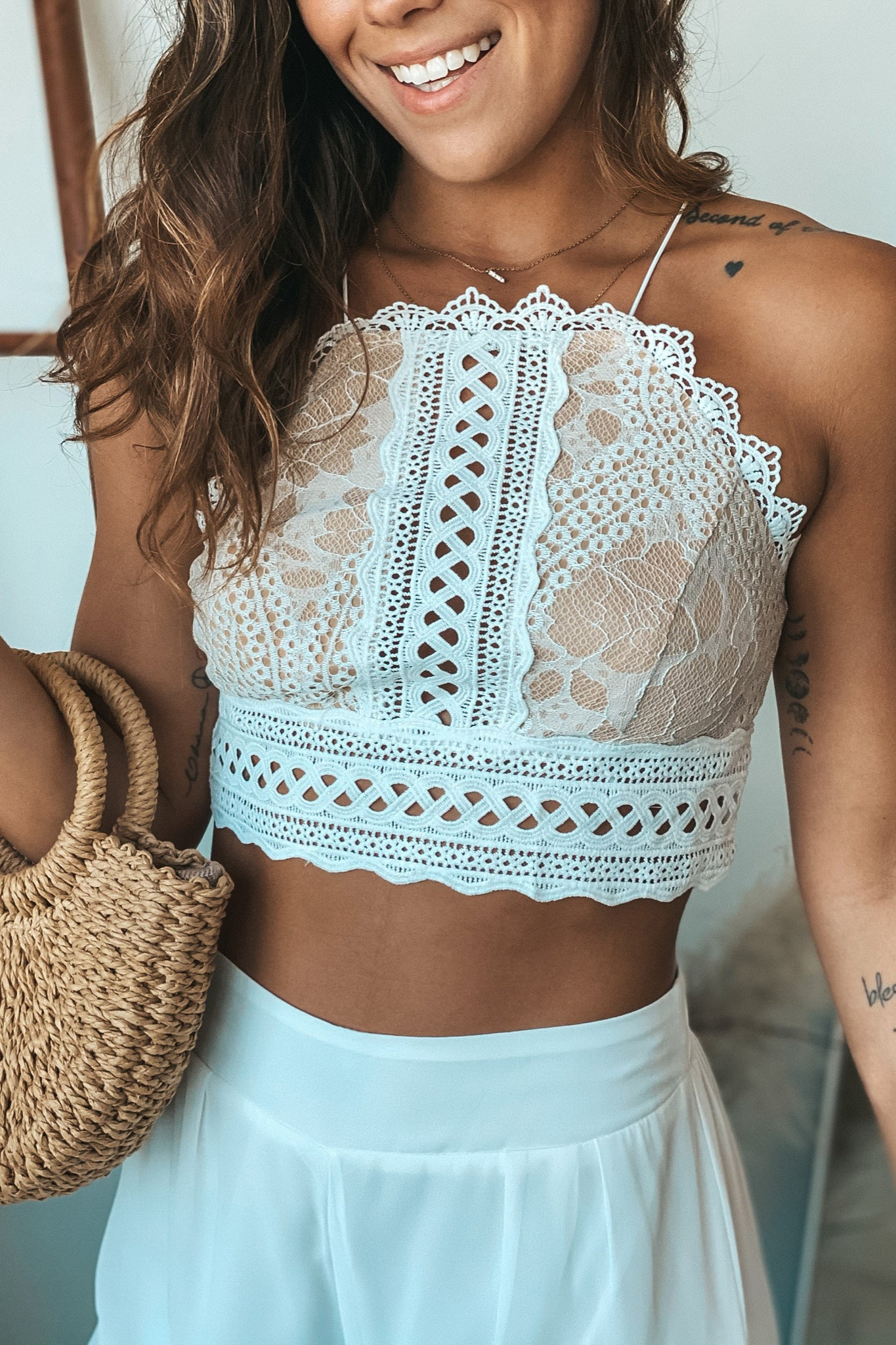 ivory cute top and pants set