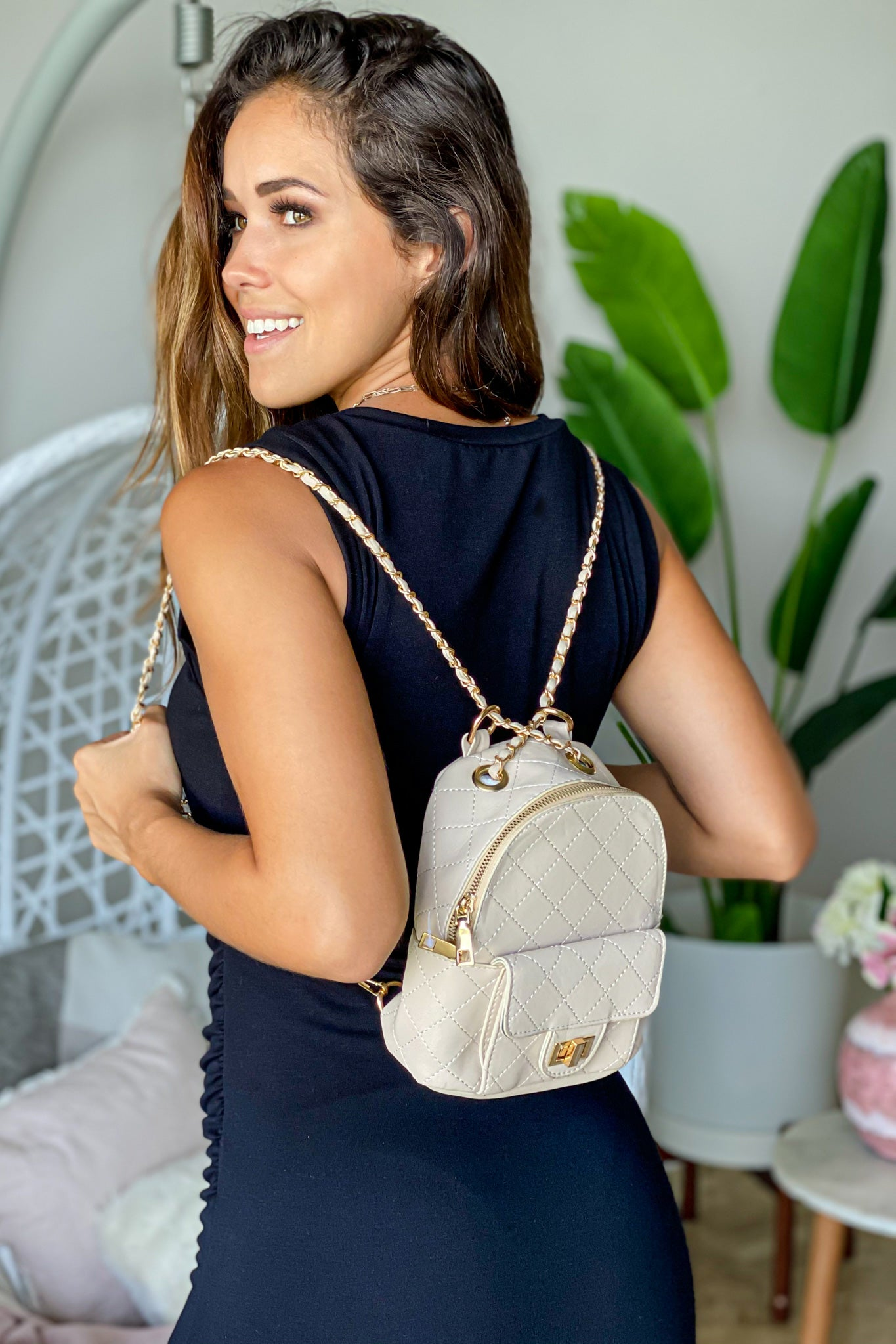 ivory pretty backpack