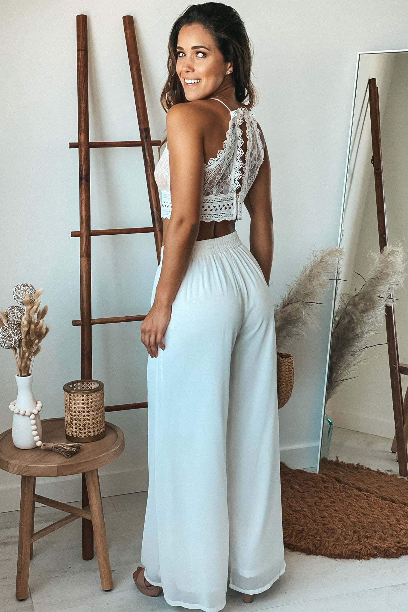 ivory top and pants set