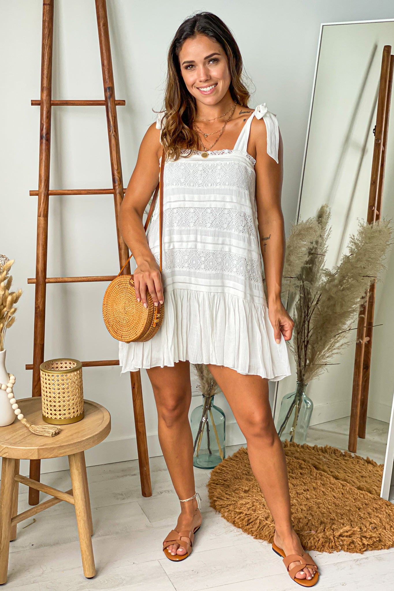 ivory vacation short dress