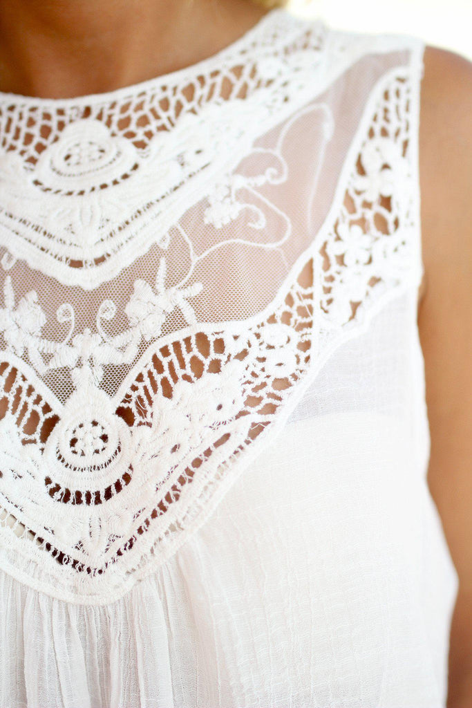 ivory top with lace detail