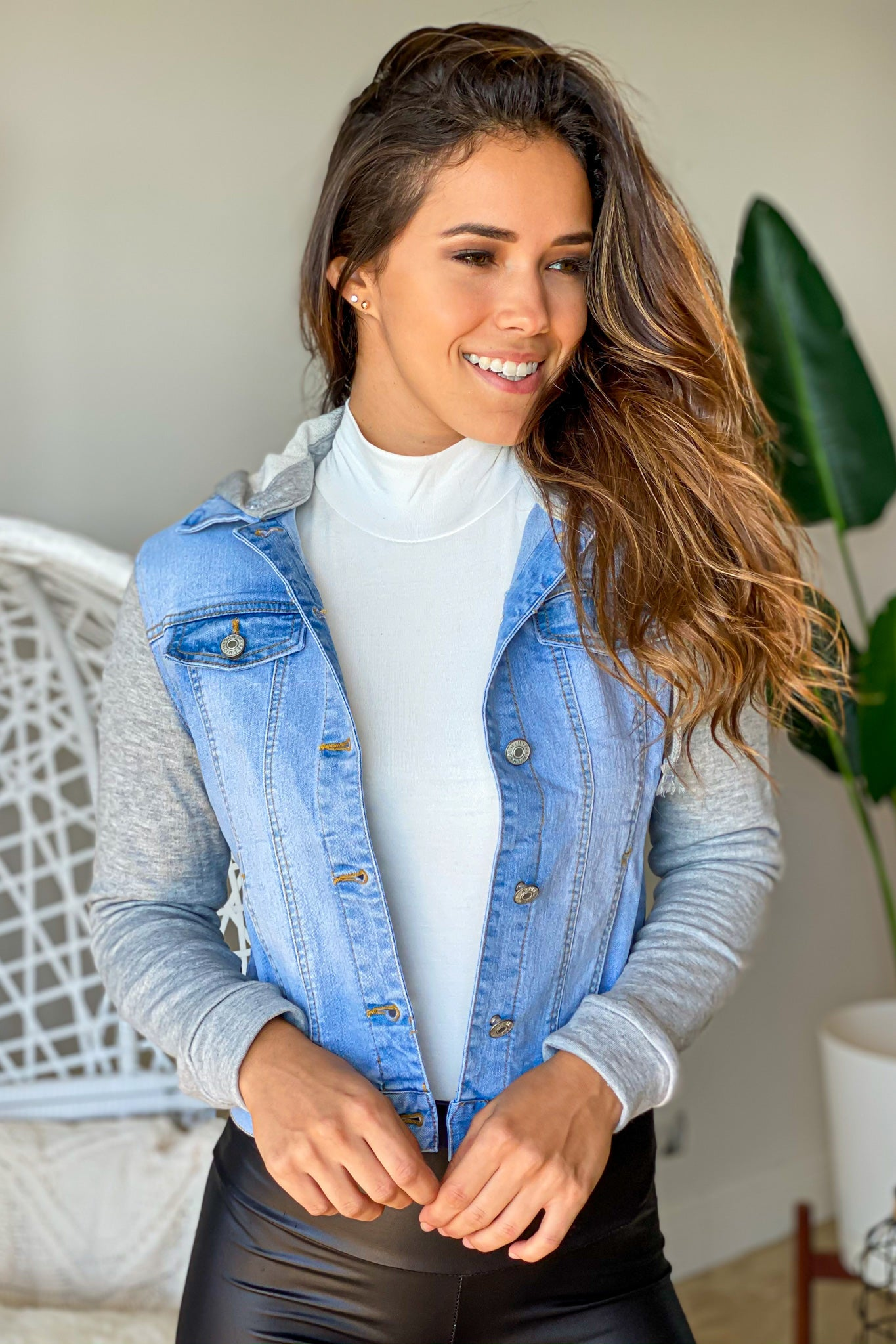 light blue casual jacket