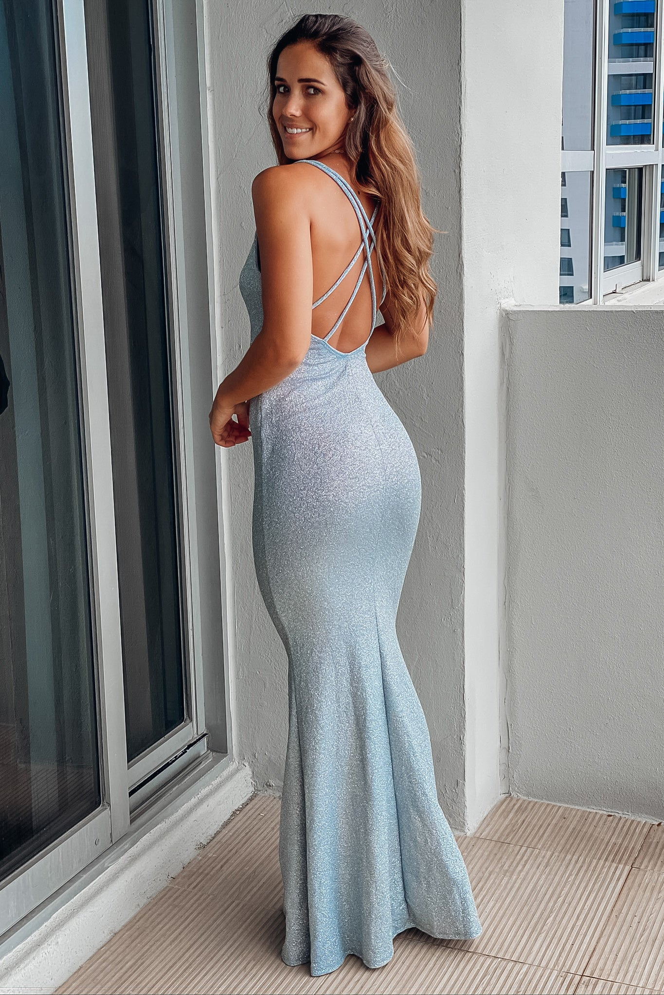 light blue formal maxi dress