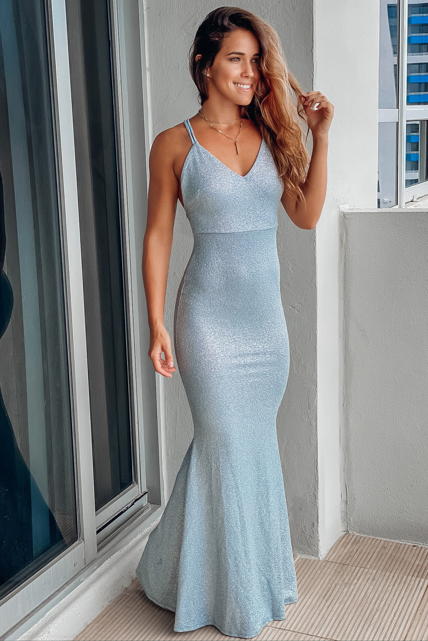 light blue prom maxi dress