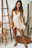 light blush swiss dot high low romper