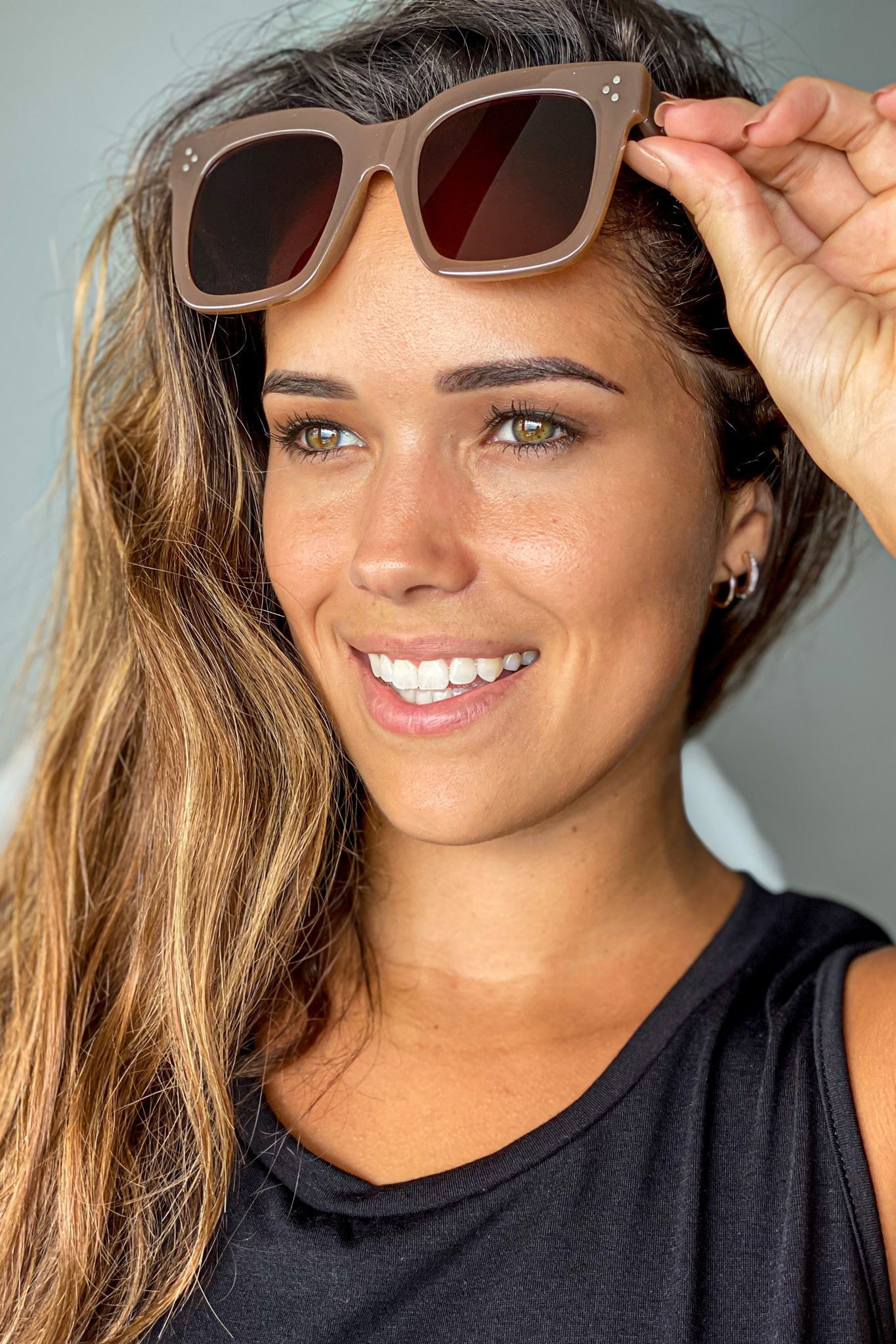 light brown cute sunglasses
