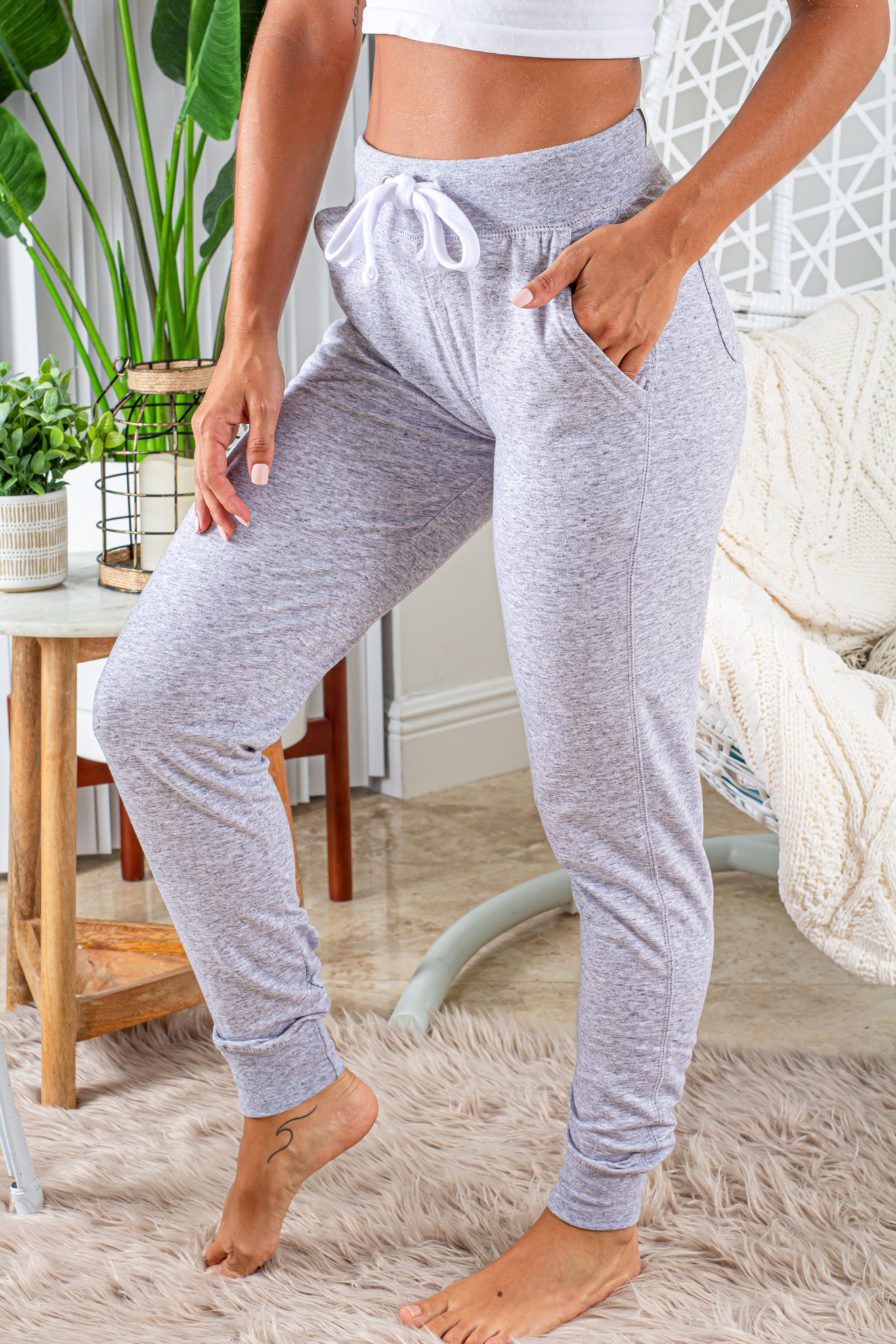 light gray casual sweatpants