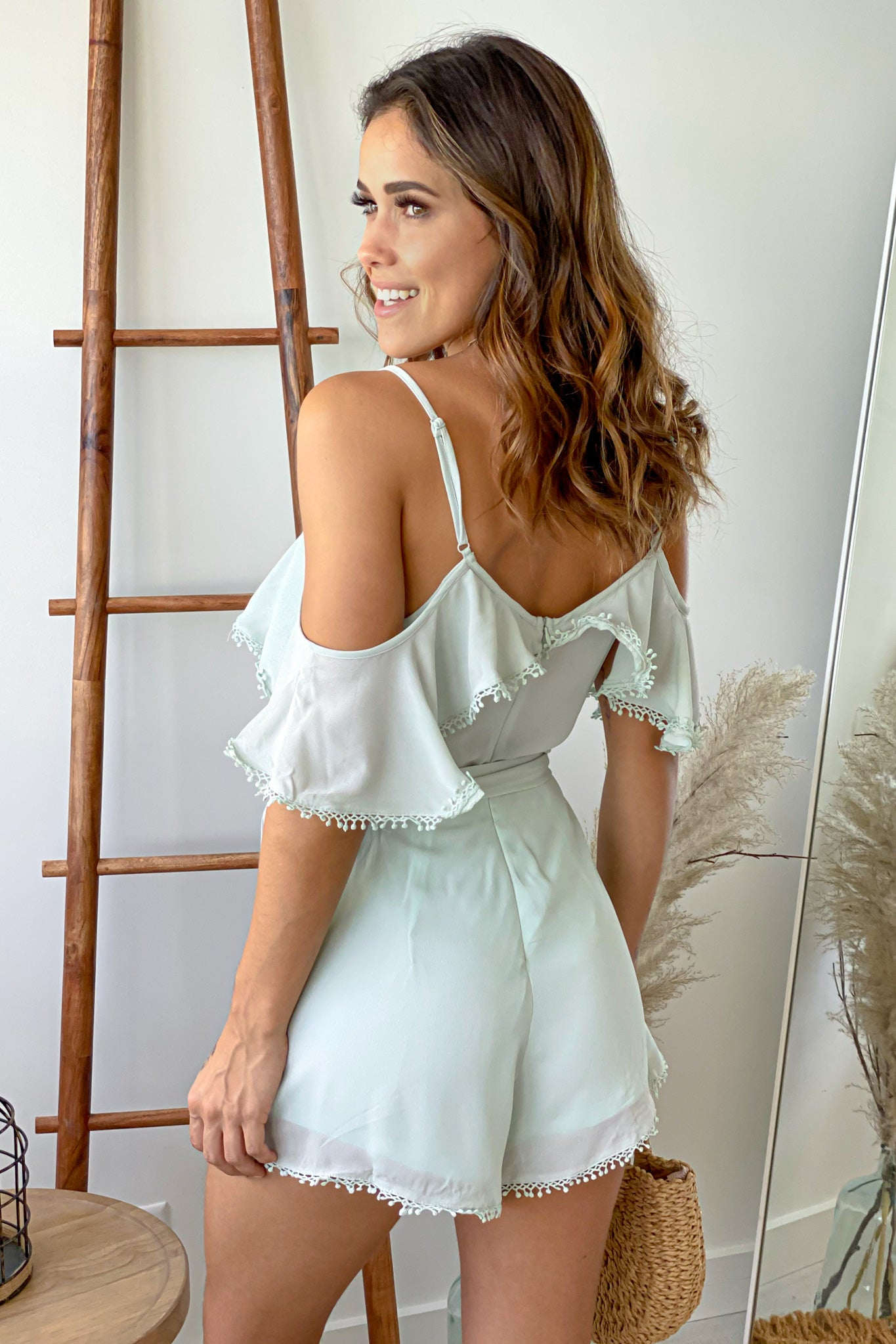 light mint romper