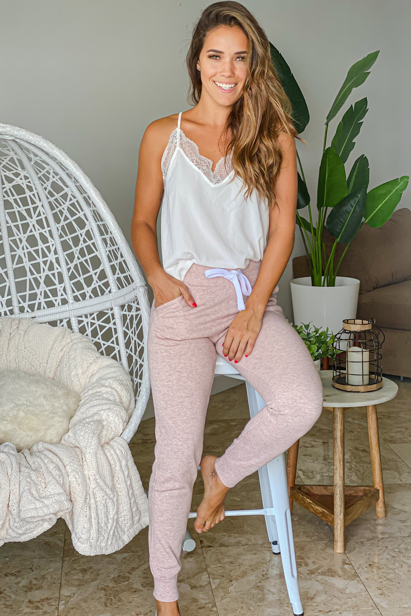 light pink cute sweatpants