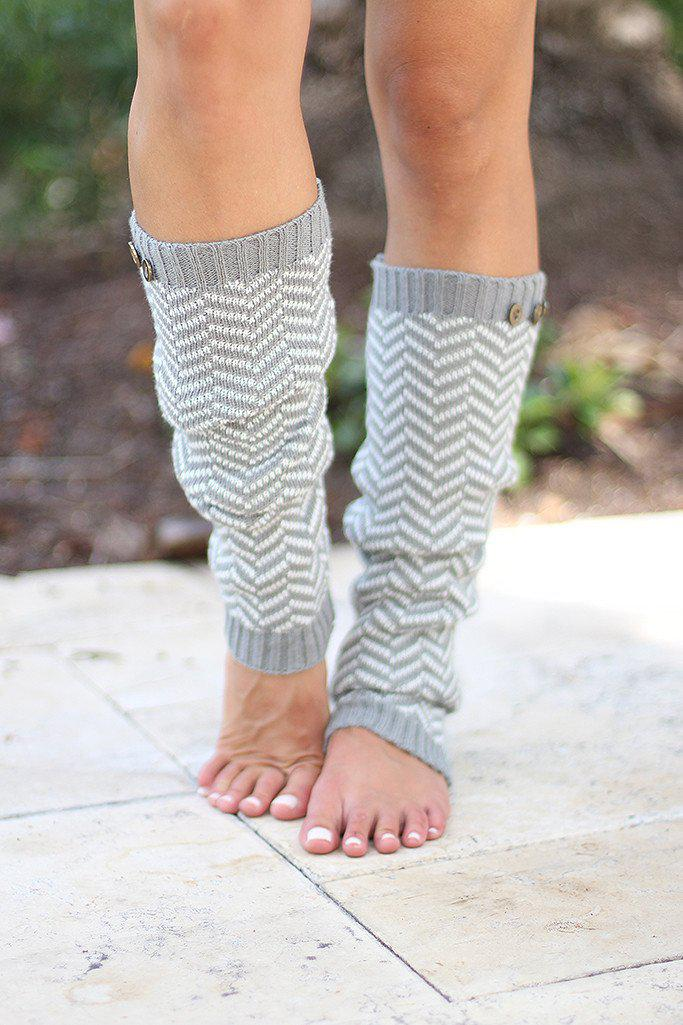 Light Gray Leg Warmers