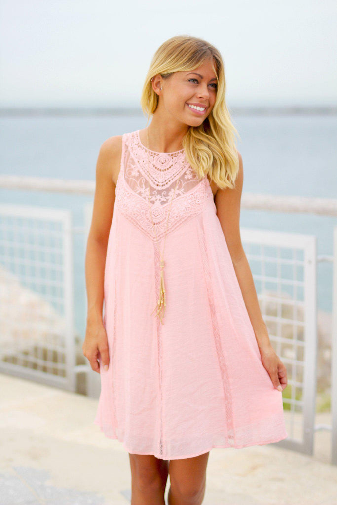 pink bridesmaid short dress