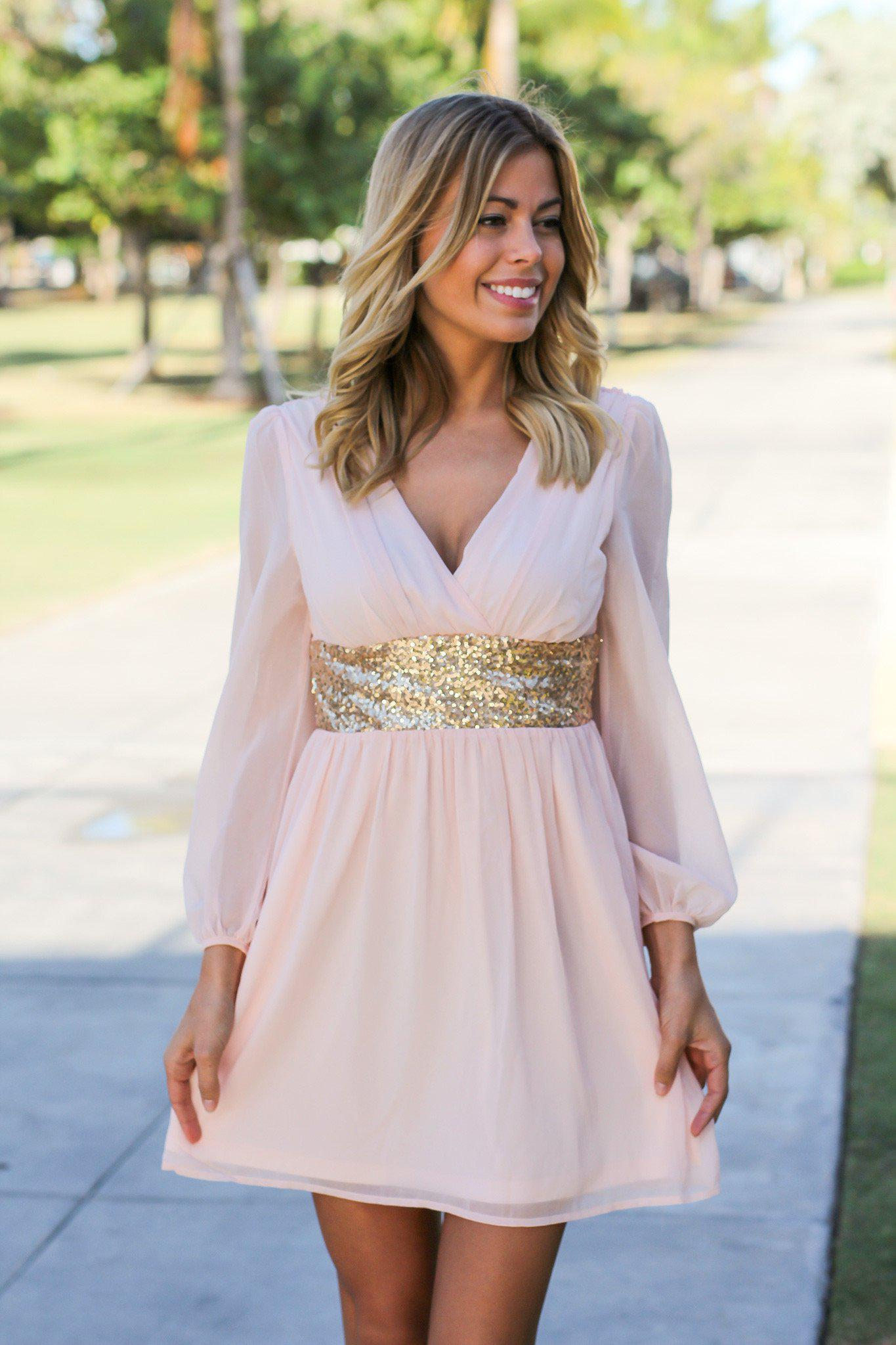 light pink short dress