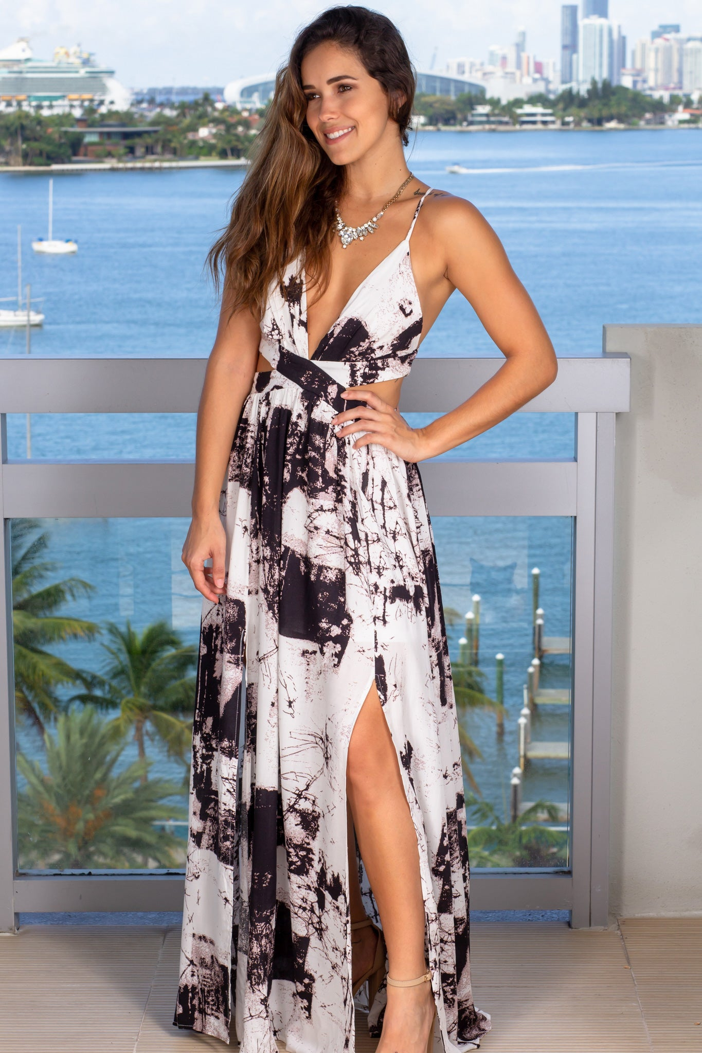 marble vacation dress