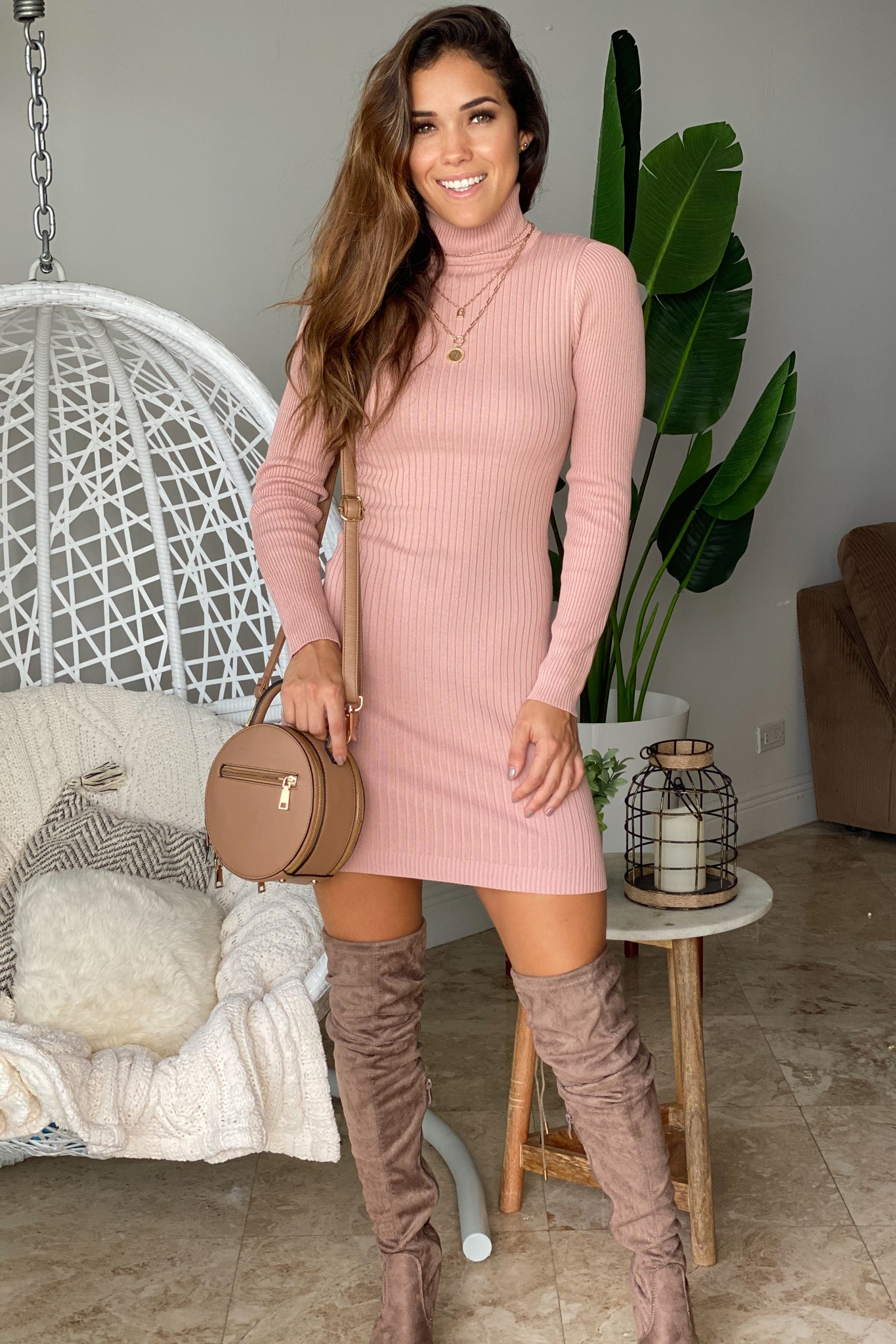 mauve cute dress
