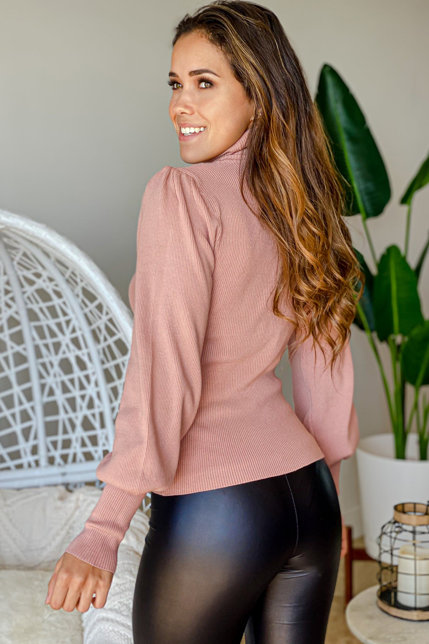 mauve cute sweater