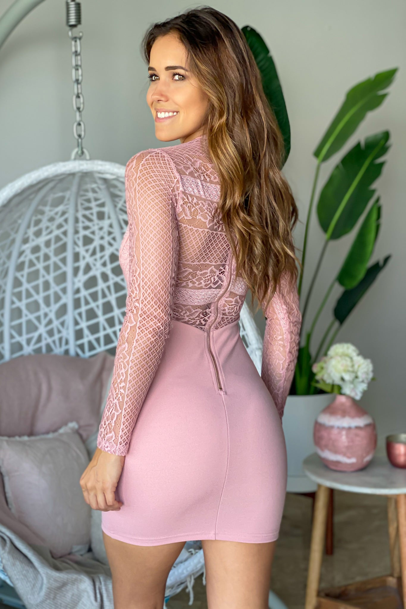 Mauve Formal Short Dress