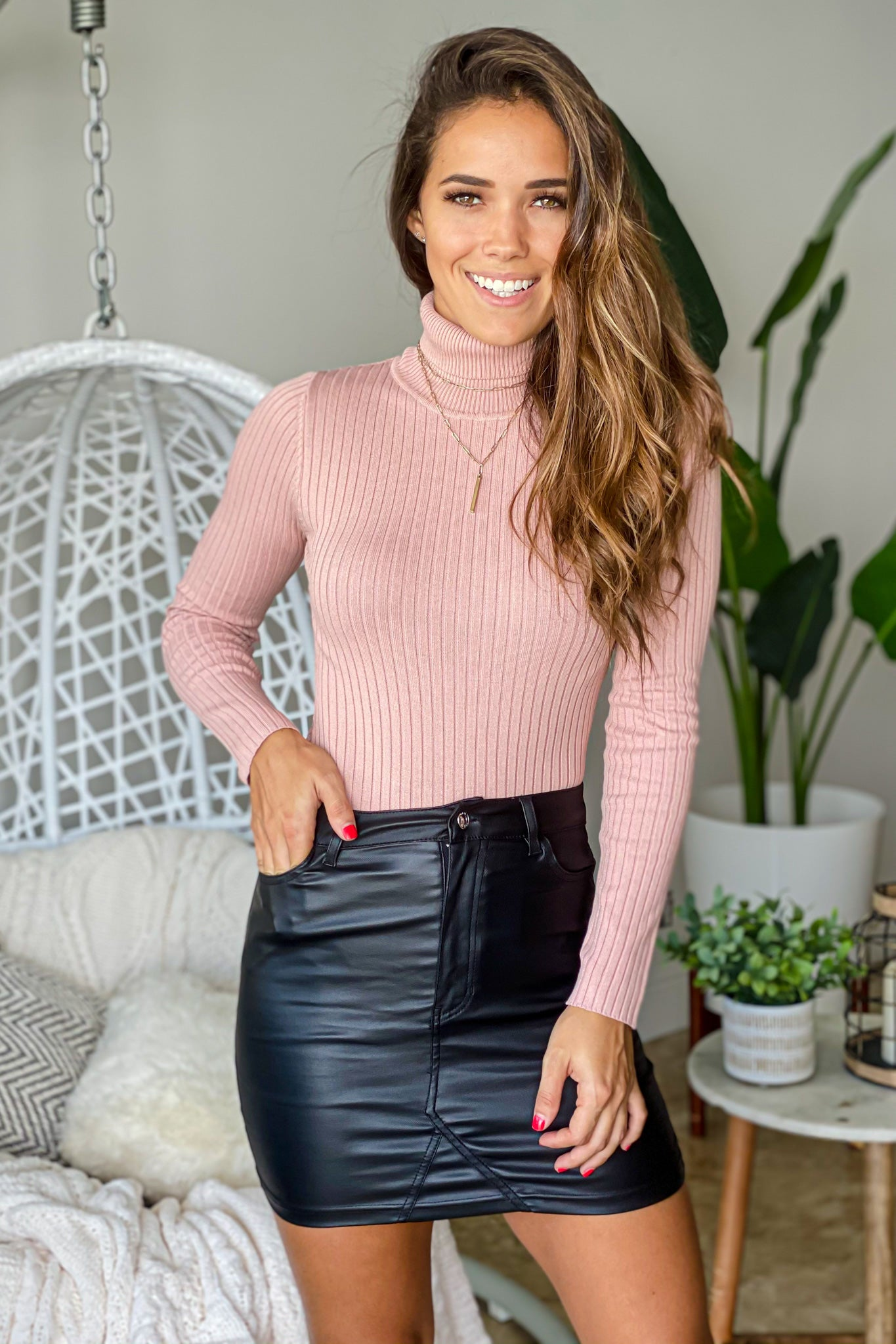 mauve long sleeve bodysuit