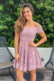 mauve party short dress