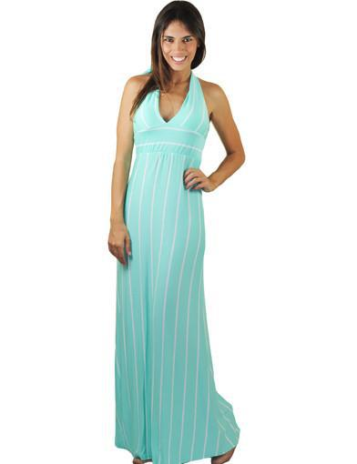 Mint halter maxi dress - main image