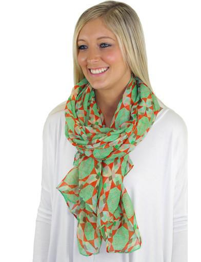 Mint print scarf - main image