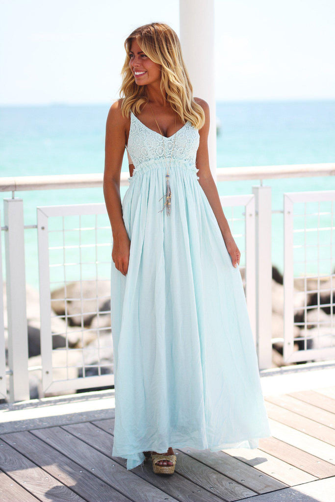 mint bridesmaids maxi dress