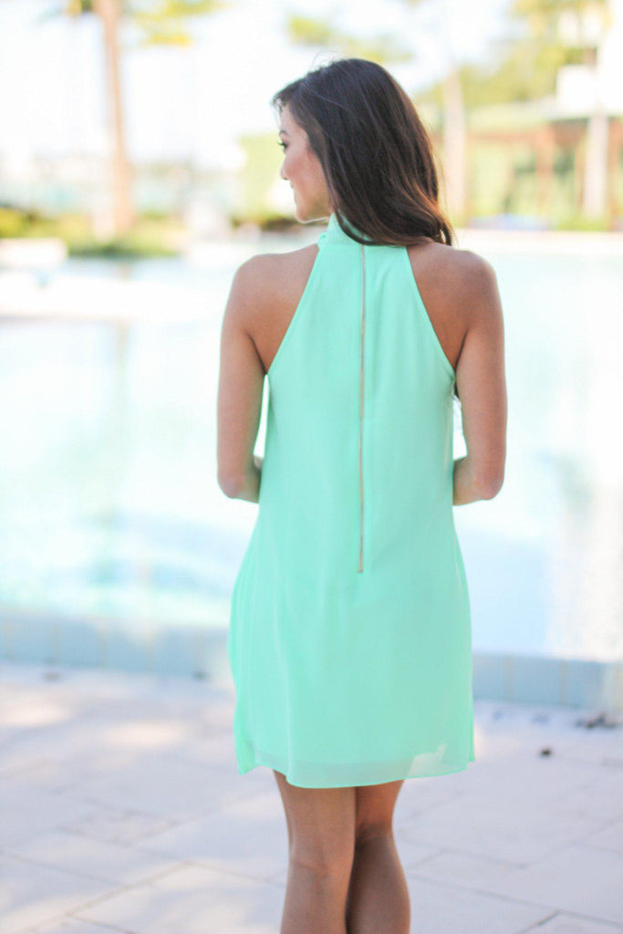 mint short dress
